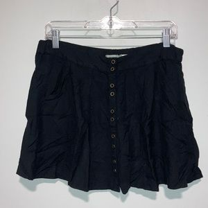 Kimchi Blue Black Skirt with buttons and pockets